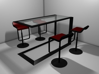 free c4d mode kitchen table chairs
