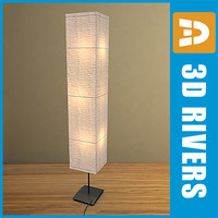 paper floor lamp lights 3d obj