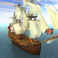 "Sail Ship ""Endeavour"