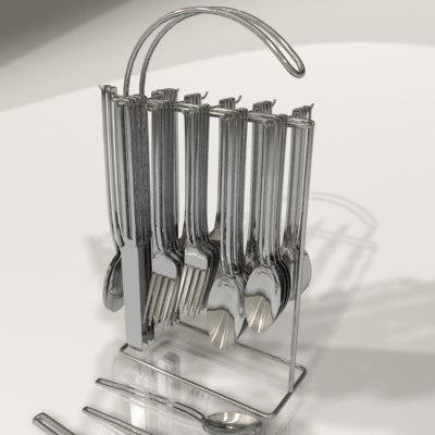 forks silverware 3d model