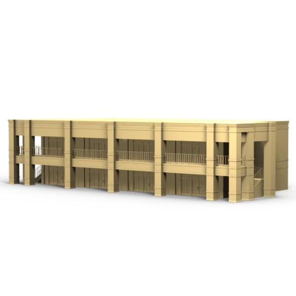 3d story strip mall