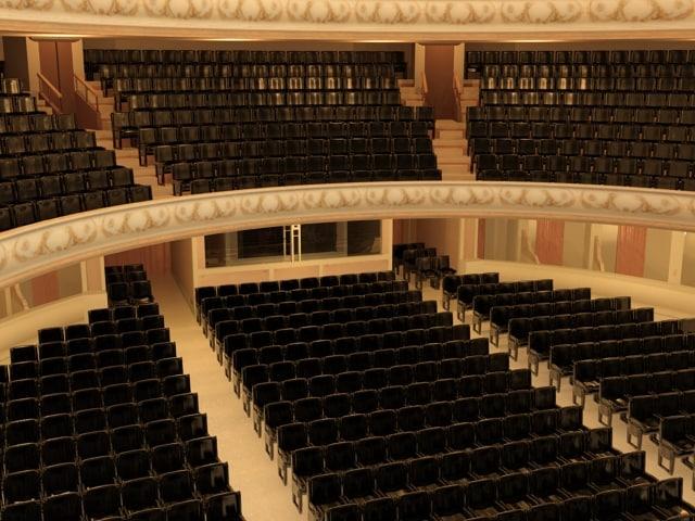 opera theater 3d model