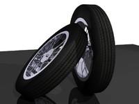 3d model tire radius