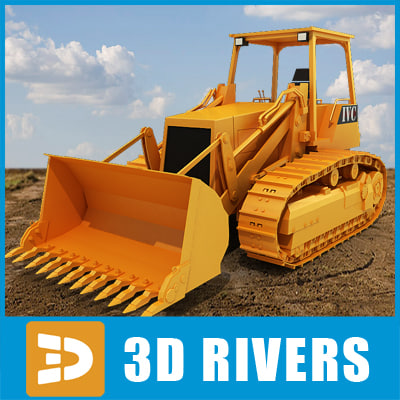 track loader industrial vehicles 3d 3ds