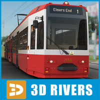london tram tramways 3d 3ds