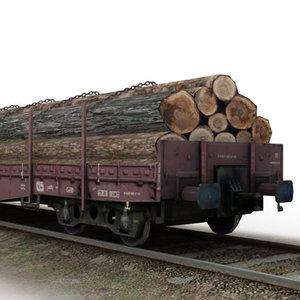3d flat wagon