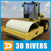 3dsmax vibratory soil compactor industrial vehicles