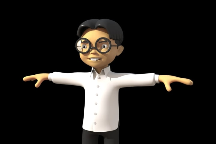 chinese cartoon character 3d model
