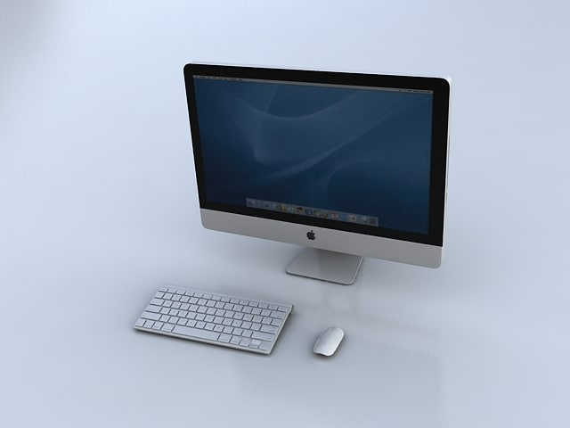 3d imac keyboard mouse model