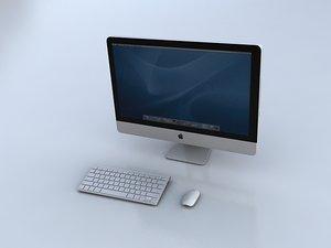3d imac keyboard mouse model