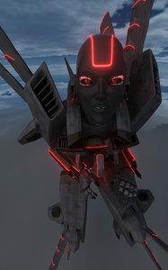 3d model robot female droid