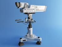 3d model sony bvp 900 camera