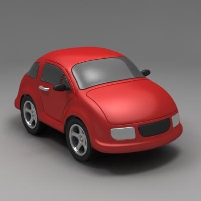 car minicar 3d fbx