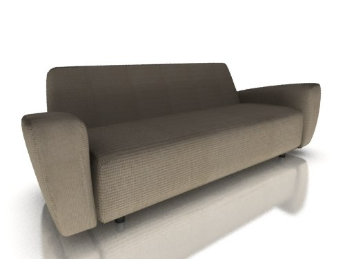 3ds max love sofa