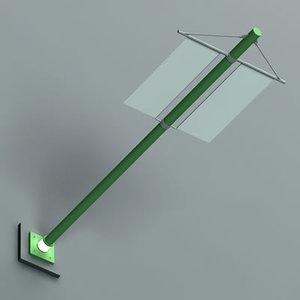 3d model exterior lamp