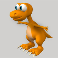 dinosaur cartoon 3d max