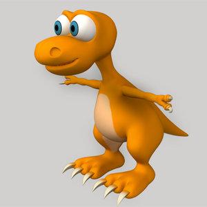 dinosaur cartoon 3d max