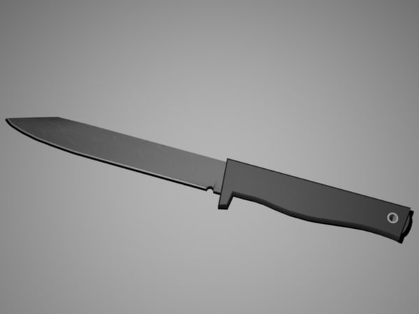 free 3ds model tactical knife