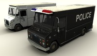 3d c4d van transport