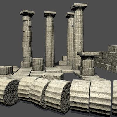 maya greek column