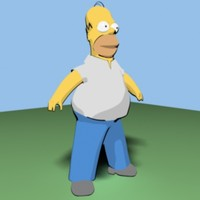 Homer Simpson cartoon