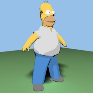 max homer simpson cartoon