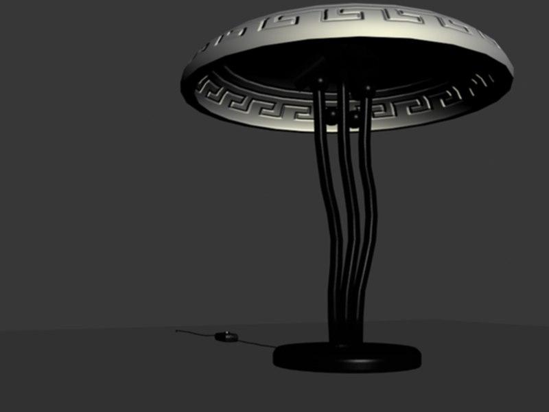 lamp greek coursework 3d model