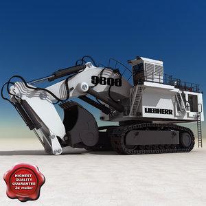 3d liebherr 9800 excavator