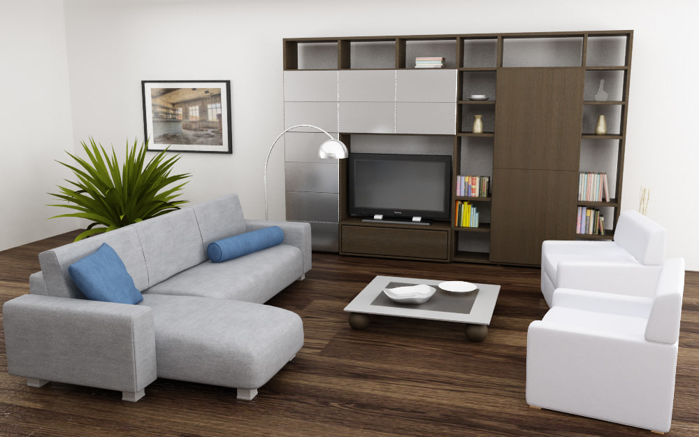3ds max living room 04a for Apartment design models