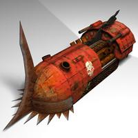 3d locoblade sci-fi model