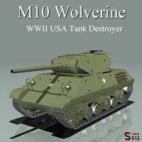 3d model m10 wolverine tank destroyer