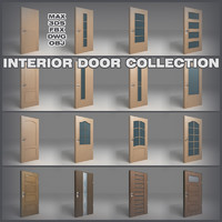 handles interior door 3d 3ds