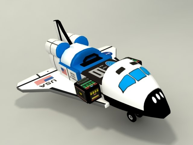 3d toy space shuttle model