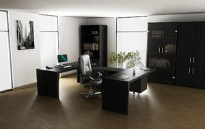 3d office interior 01b