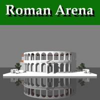 roman arena 3d model