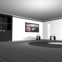 3d model realistic room interior