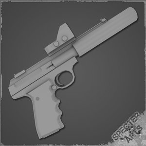 22lr custom match pistol 3d 3ds