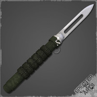 3d spring loaded ballistic knife