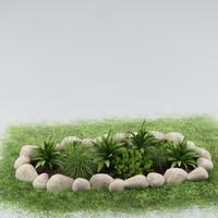 3d garden plants model