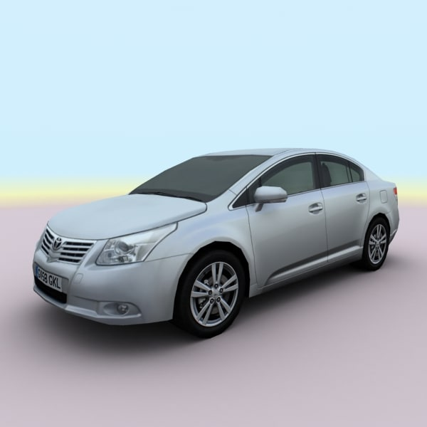 2009 toyota avensis 3d 3ds