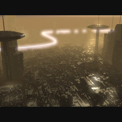 sci-fi city 3d max