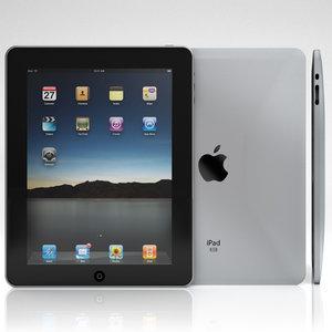 3d model of apple ipad wifi