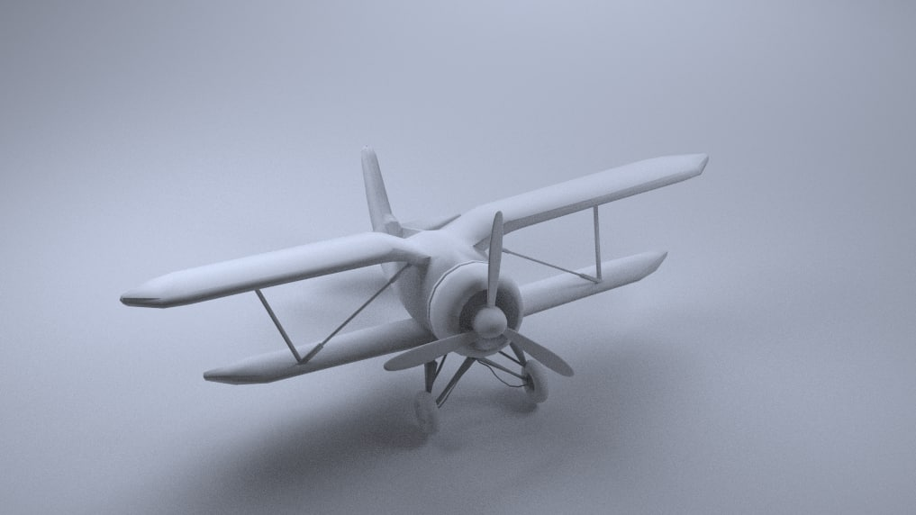 3d model of world war airplane