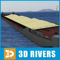 3d barge sand river transport
