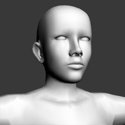 3d model female base