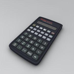 free calculator mathematics 3d model