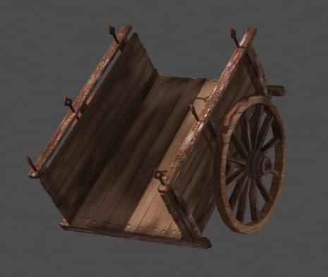 cart old 3d obj