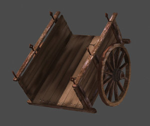cart old 3d obj