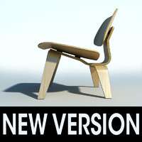 eames plywood chair 3d 3ds