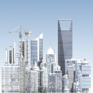 skyscrapers generic 3d model